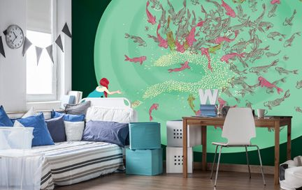 Marcos Chin Wall Murals Wallpaper