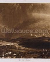 Peat Bog, Scotland, engraved by George Clint (1770-1854) wallpaper mural thumbnail