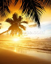Caribbean Sunset wall mural thumbnail