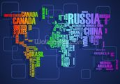 Map Word Cloud wall mural thumbnail