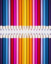 Line of Coloured Pencils mural wallpaper thumbnail