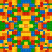 Lego Pattern Effect wallpaper mural thumbnail
