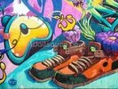Graffiti - Trainers wall mural thumbnail