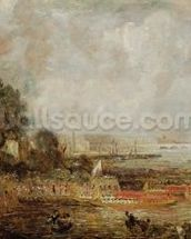 The Opening of Waterloo Bridge, c.1829-31 (oil on canvas) wall mural thumbnail