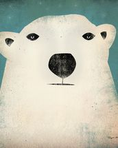 The Polar Bear mural wallpaper thumbnail
