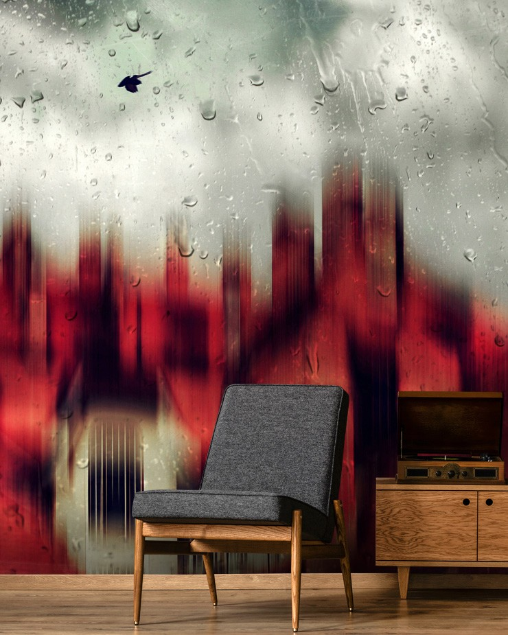 black-and-red-wallpaper-in-lounge