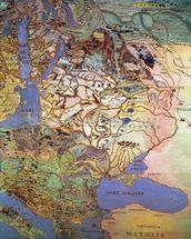 Map of Central Europe, from the Sala Del Mappamondo (Hall of the World Maps) (fresco) wall mural thumbnail