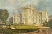 View of Hampton Court from the North-west, c.1806 (pen & ink and w/c over pencil on wove paper) wallpaper mural thumbnail