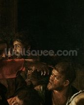 Resurrection of Lazarus (oil on canvas) (detail of 238777) mural wallpaper thumbnail