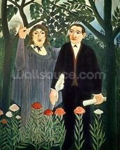 The Muse Inspiring the Poet, 1909 (oil on canvas) mural wallpaper thumbnail