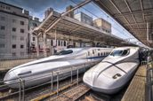 Japanese Bullet Trains wall mural thumbnail