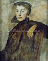Study for a Portrait of a Lady, 1867 (oil on canvas) (see also 154492 for unframed version) wall mural thumbnail