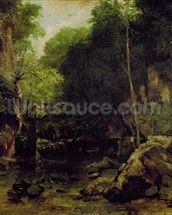 Le Puits-Noir, Doubs (oil on canvas) mural wallpaper thumbnail