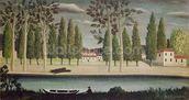 By the River, c.1890 (oil on canvas) wall mural thumbnail