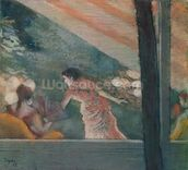 Cafe Concert at the Ambassadeurs, 1885 (pastel on paper) mural wallpaper thumbnail
