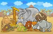 Wild Animals wall mural thumbnail