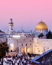 Western Wall and Dome of the Rock in Jerusalem, Israel mural wallpaper thumbnail