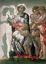 Madonna and Child with St. John, c.1495 (tempera on panel) wall mural thumbnail