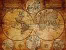 Old Globe Map 1746 wall mural thumbnail