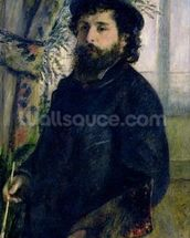 Portrait of Claude Monet (1840-1926) 1875 (oil on canvas) wall mural thumbnail