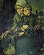 Mother and Child, 1885 (oil on canvas) mural wallpaper thumbnail