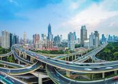 Shanghai City Roads mural wallpaper thumbnail
