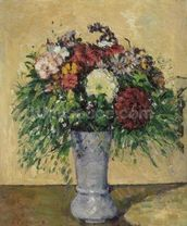 Bouquet of Flowers in a Vase, c.1877 (oil on canvas) wall mural thumbnail