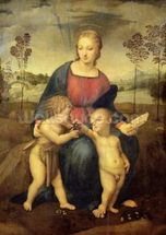 Madonna of the Goldfinch, c.1506 (oil on panel) wall mural thumbnail