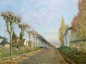 Rue de la Machine, Louveciennes, 1873 (oil on canvas) wallpaper mural thumbnail