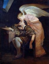 The Dream of the Poet or, The Kiss of the Muse, 1859-60 (oil on canvas) mural wallpaper thumbnail