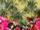 Tropical Lilly Scene wall mural thumbnail