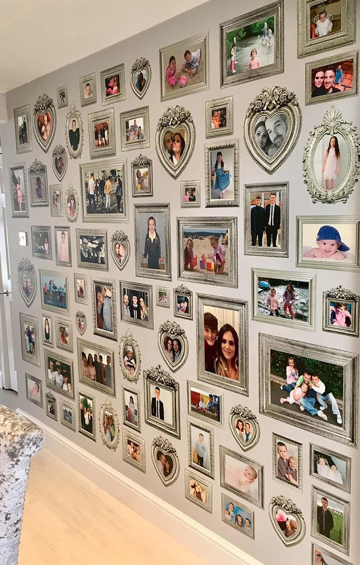 family photo gallery wall feature in lounge