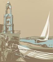 Swanage Tower mural wallpaper thumbnail