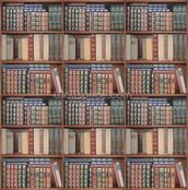 Repeating Books mural wallpaper thumbnail