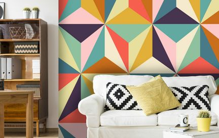 Geometric Wallpaper Wall Murals Wallpaper
