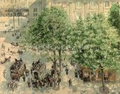 Place du Theatre-Francais, Spring, 1898 (oil on canvas) wall mural thumbnail
