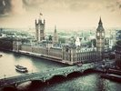 London Vintage Effect wall mural thumbnail