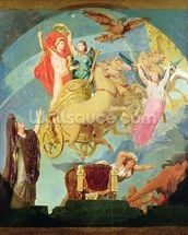 Apotheosis of Napoleon I (1769-1821) 1853 (oil on canvas) (see 429032 for detail) wall mural thumbnail