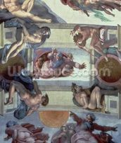 Sistine Chapel Ceiling (1508-12): The Separation of the Waters from the Earth, 1511-12 (fresco) wall mural thumbnail