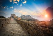Great Wall of China Sunset wall mural thumbnail