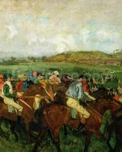 Gentlemen race. Before the Departure, 1862 (oil on canvas) wall mural thumbnail