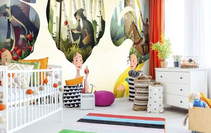 Mark Bird Wall Murals Wallpaper