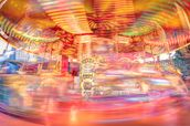 Speeding Southbank Carousel wallpaper mural thumbnail