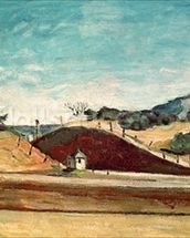 The Railway Cutting, c.1870 (oil on canvas) mural wallpaper thumbnail