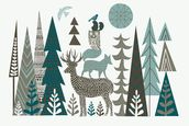 Forest Folklore wallpaper mural thumbnail