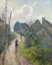 Road climbing to Osny, 1883 (oil on canvas) wall mural thumbnail