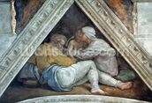 Sistine Chapel Ceiling: The Ancestors of Christ (pre restoration) wall mural thumbnail