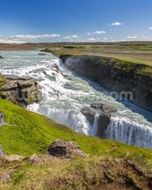 Nvita River & Gullfoss Waterfall, Iceland mural wallpaper thumbnail
