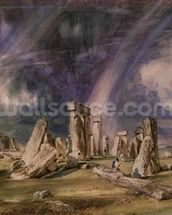 Stonehenge, 1835 (w/c on paper) wall mural thumbnail