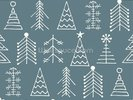 Fir Trees wall mural thumbnail